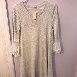 Grey Bell Sleeved Dress